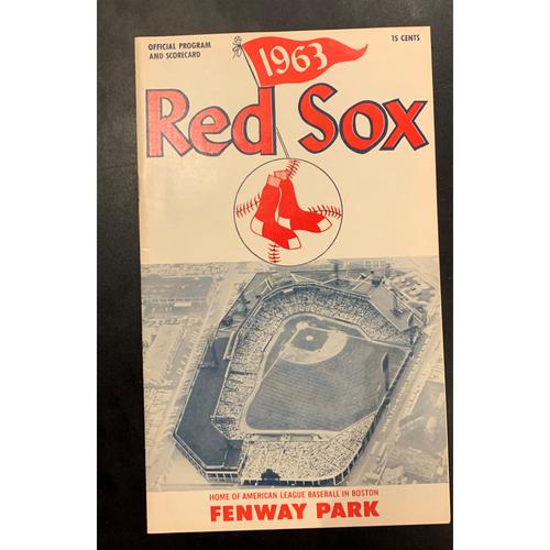 Photo of Kansas City Royals at Boson Red Sox May 19, 1963 Official Program and Scorecard