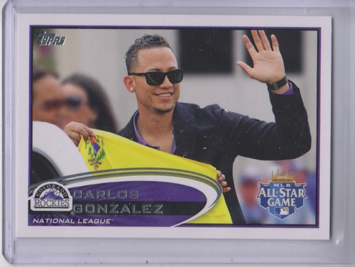 Photo of 2012 Topps Update #US259B Carlos Gonzalez/In suit SP