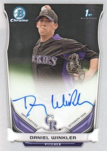 Photo of 2014 Bowman Chrome Prospect Autographs #BCAPDW Daniel Winkler