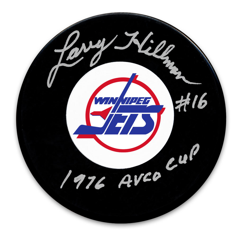 Larry Hillman Winnipeg Jets 1976 Avco Cup Autographed Puck