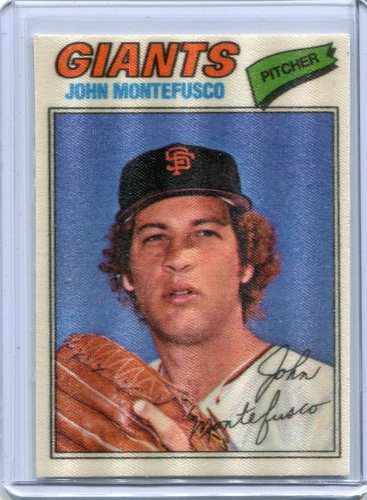Photo of 1977 Topps Cloth Stickers #30 John Montefusco SP