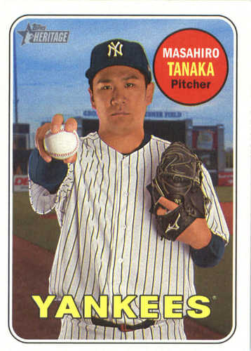 Photo of 2018 Topps Heritage #218 Masahiro Tanaka