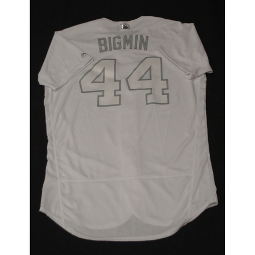 "Photo of Jesse ""BIGMIN"" Biddle Texas Rangers Team-Issued 2019 Players' Weekend Jersey"