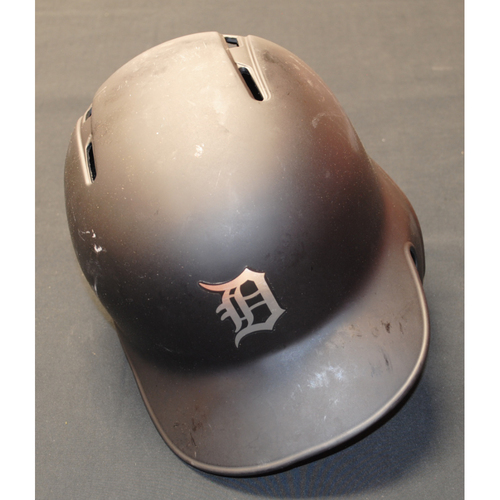 "Photo of Brandon ""Bandit"" Dixon Detroit Tigers Game-Used 2019 Players' Weekend Helmet"