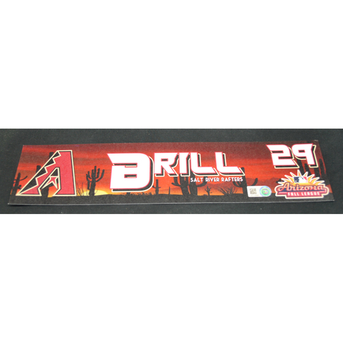 Photo of Arizona Fall League - Game-Used Locker Tag - Matt Brill (ARI), Jersey Number: 29