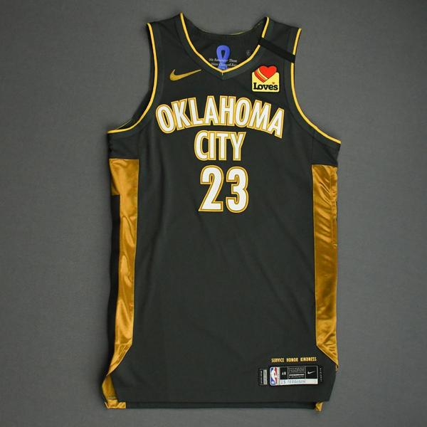 Image of Terrance Ferguson - Oklahoma City Thunder - Game-Worn City Edition Jersey - 2019-20 Season