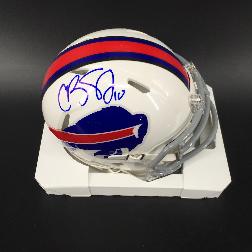 Bills - Cole Beasley Signed Mini Helmet