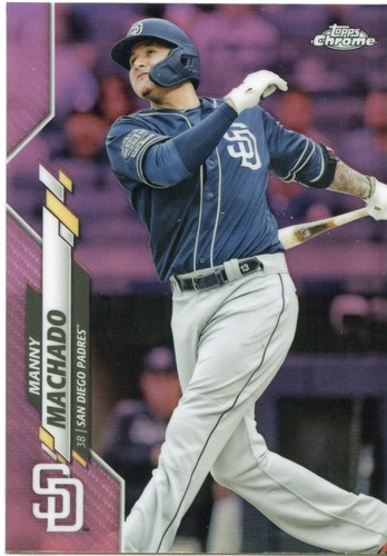 Photo of 2020 Topps Chrome Pink Refractors #76 Manny Machado