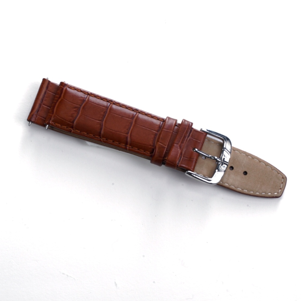 Photo of Jacques Lemans Alligator Grain Real Leather Watch Strap