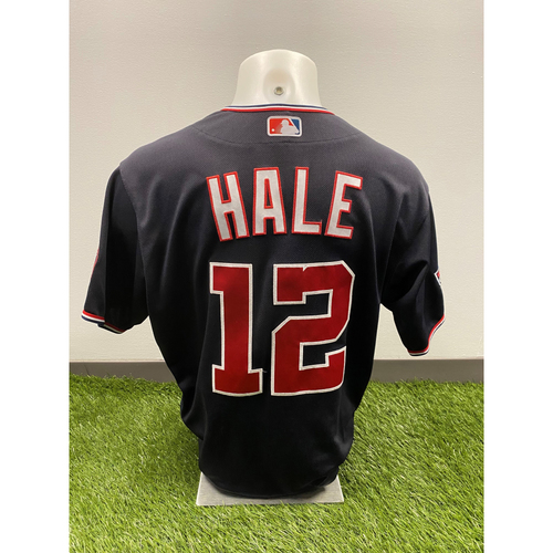 Photo of Chip Hale 2020 Game-Used World Series Champions Navy Script Jersey