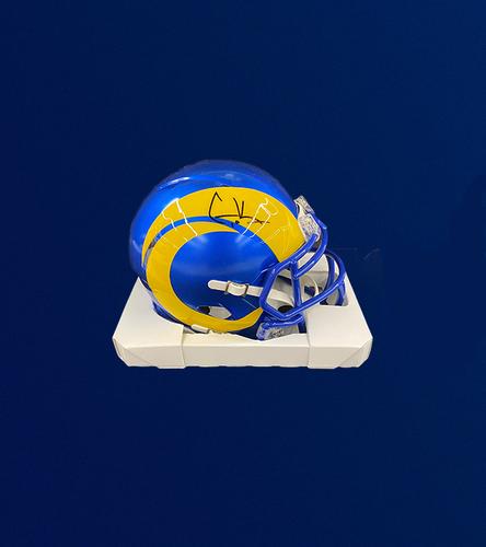 Cooper Kupp Signed Mini-Helmet