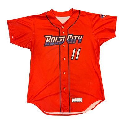 Game Worn Red Bold City Jersey Lewin Diaz #11 Size 46