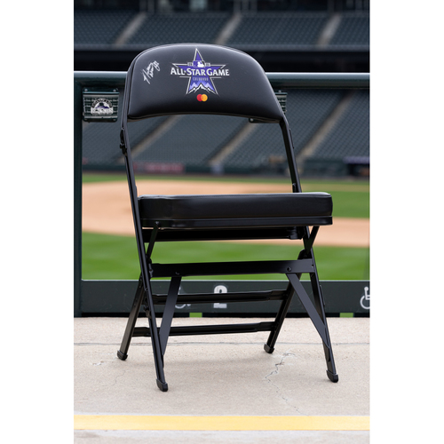 Photo of 2021 Celebrity Softball Game Autographed On Field Chair - Natasha Watley