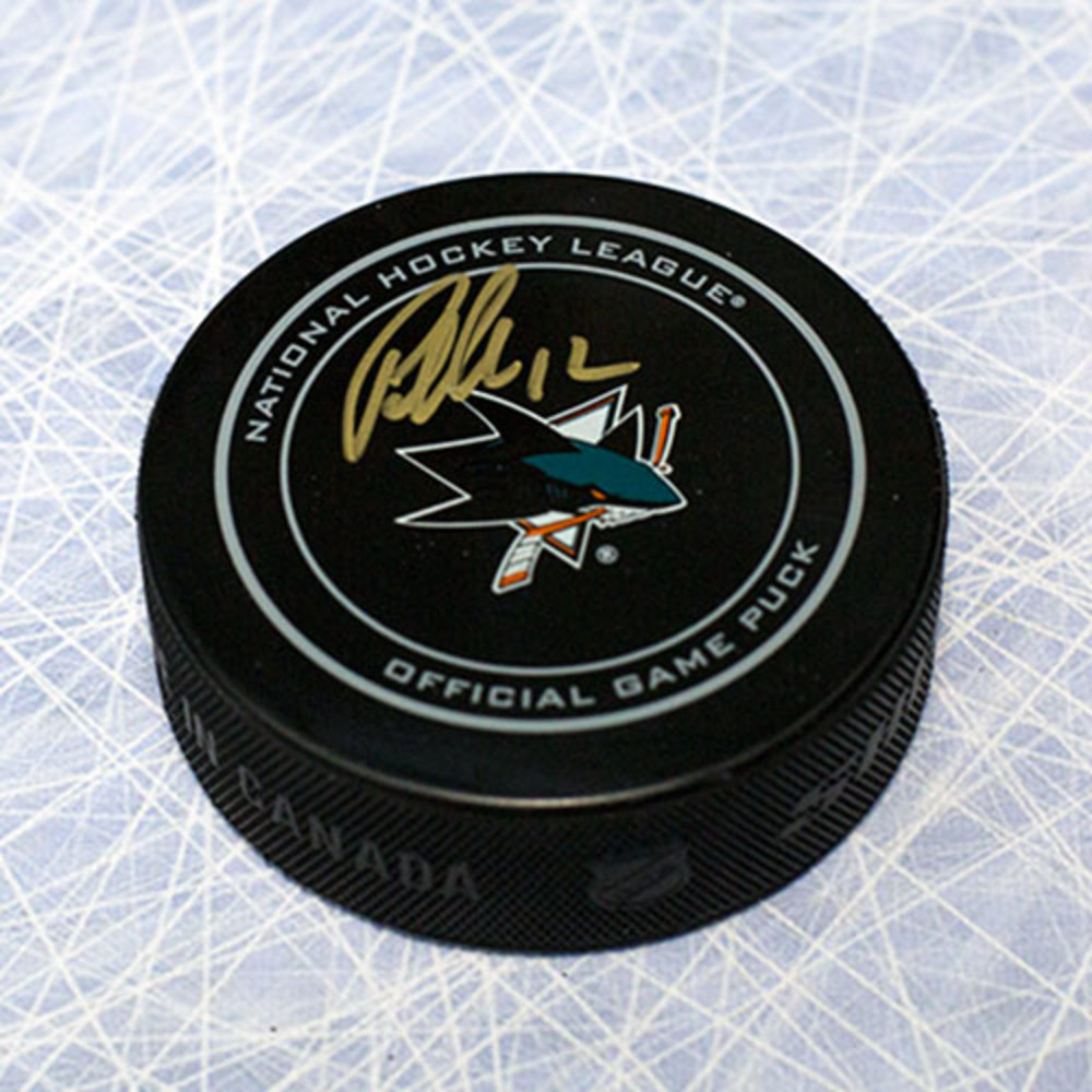 Patrick Marleau San Jose Sharks Autographed Official Game Puck