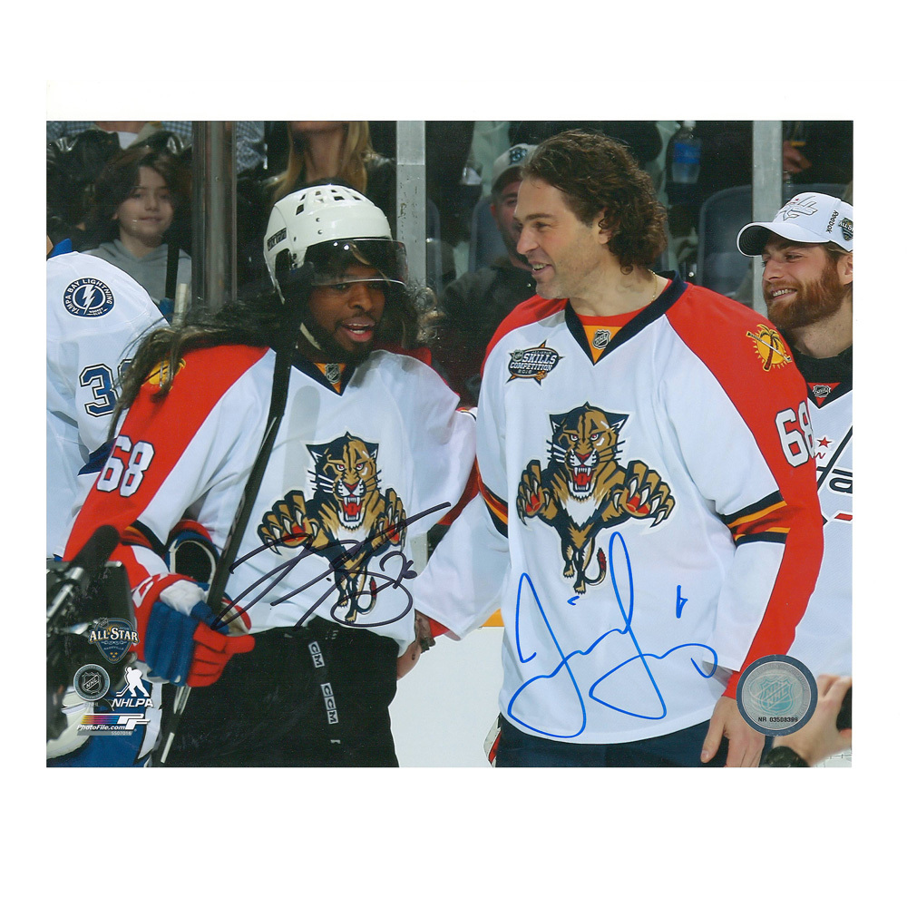 JAROMIR JAGR & P.K. SUBBAN Signed Florida Panthers and Montreal Canadiens 8 X 10 Photo - 70493A