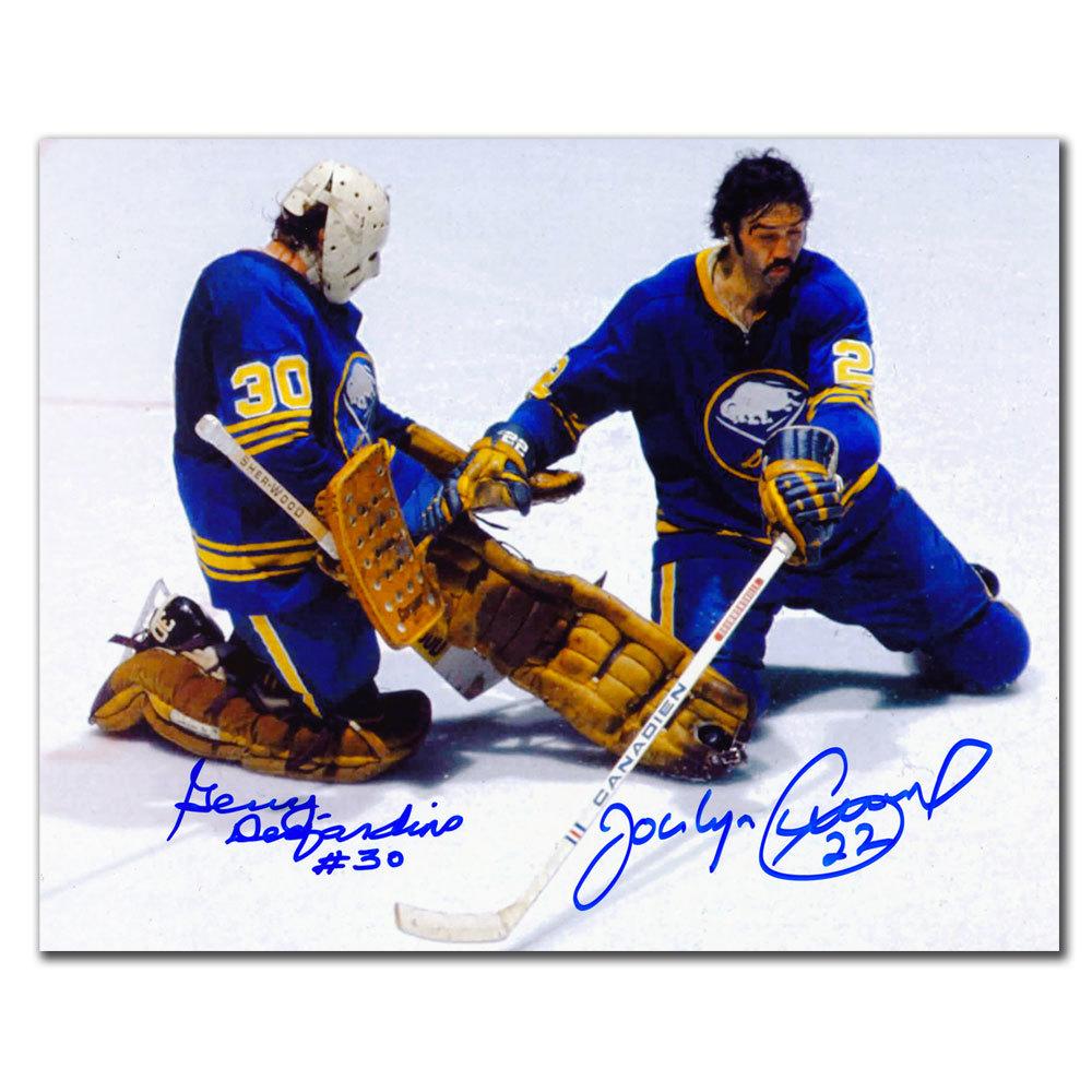 Gerry Desjardins & Jocelyn Guevremont Buffalo Sabres Dual Autographed 8x10