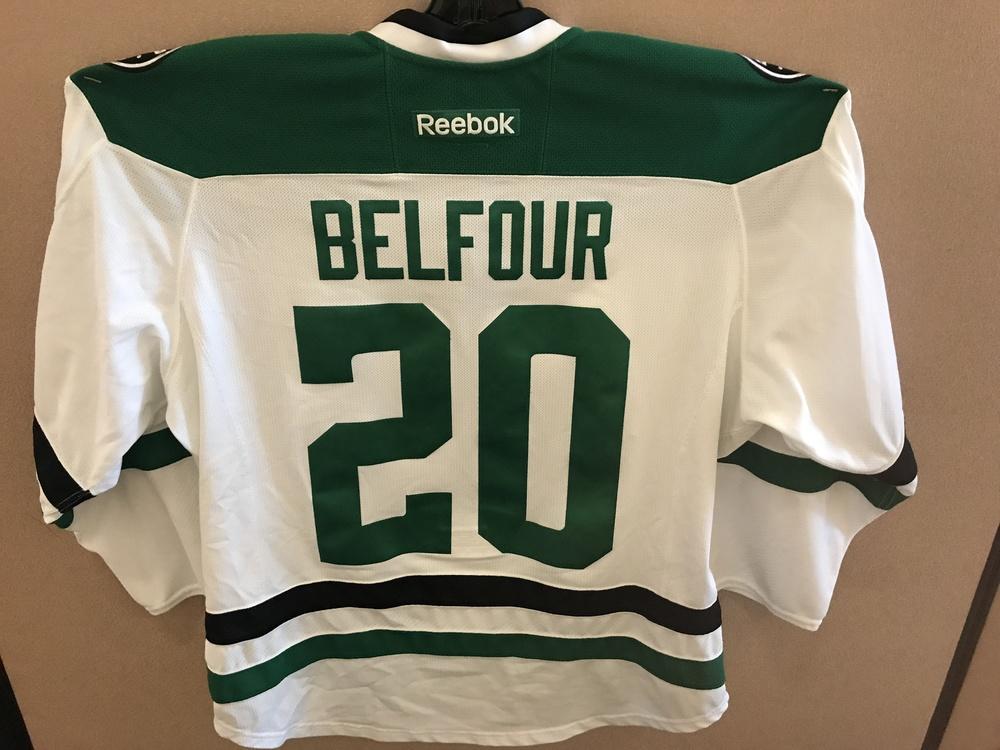 Ed Belfour Alumni Game Worn Stars Jersey