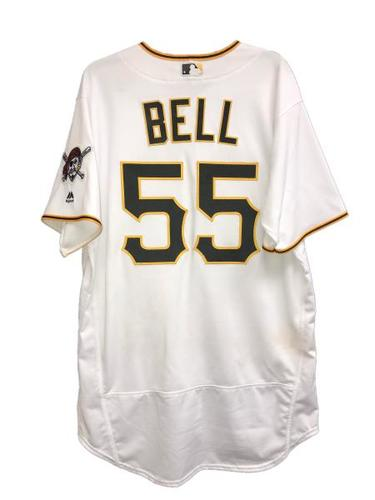 Photo of Josh Bell Game-Used Jersey - 2 for 3, RBI