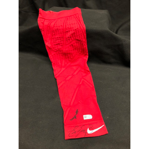 Photo of Eugenio Suarez Autographed Compression Sleeve -- Sleeve Autographed During 2018 Spring Training