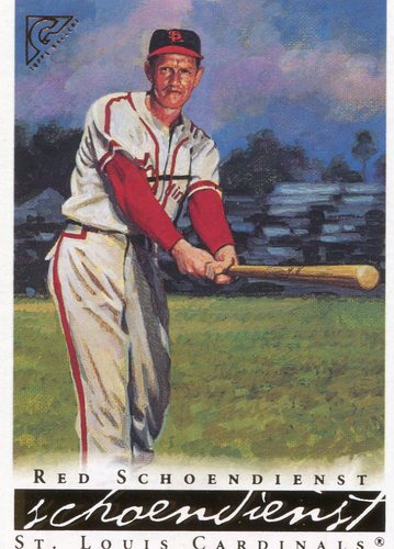 Photo of 2003 Topps Gallery HOF #47 Red Schoendienst -- Hall of Fame Class of 1989