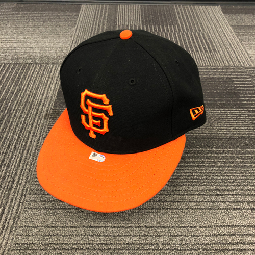 San Francisco Giants - 2018 Game Used Orange Bill Cap worn by #12 Joe Panik on 9/28/18 vs. LAD - Size 7 1/4