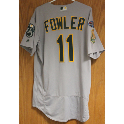 Photo of Game-Used Dustin Fowler 2018 Jersey