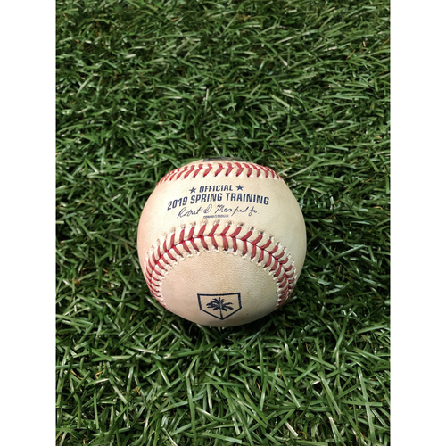 Photo of Spring Training Game Used Baseball: Scott Kingery triple off Austin Pruitt - February 22, 2019 v PHI