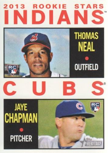 Photo of 2013 Topps Heritage #146 Thomas Neal RC/Jaye Chapman RC