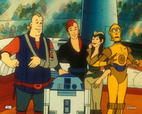 C-3PO, Kea Moll and R2-D2