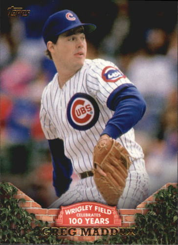 Photo of 2016 Topps 100 Years at Wrigley Field #WRIG38 Greg Maddux
