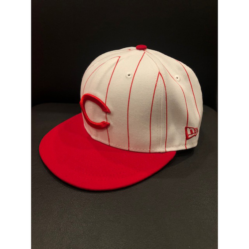 Photo of Tucker Barnhart -- Game-Used 1995 Throwback Cap (Starting C: Went 1-for-4) -- D-backs vs. Reds on Sept. 8, 2019 -- Cap Size 7