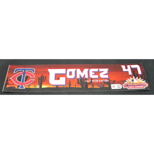 Photo of Arizona Fall League - Game-Used Locker Tag - Moises Gomez (TB), Jersey Number: 47