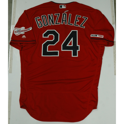 Photo of Carlos Gonzalez 2019 Team Issued Alternate Home Jersey