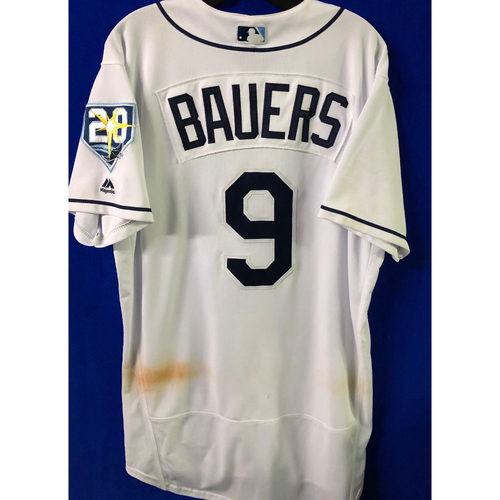 20th Anniversary Game Used Jersey: Jake Bauers (5 Games) - First MLB Season