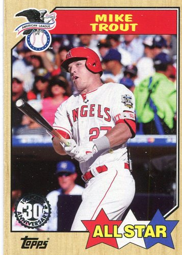 Photo of 2017 Topps '87 Topps #87150 Mike Trout