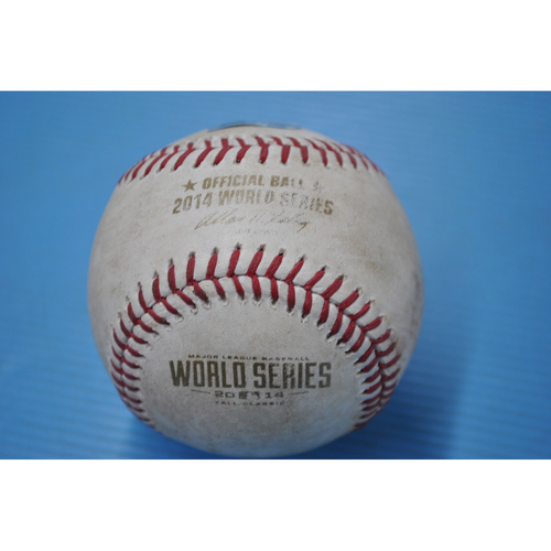 Game-Used Baseball - 2014 World Series - Game 3 - Pitcher: Kelvin Herrera, Batter: Buster Posey - RBI Fielders Choice - 6th Inning