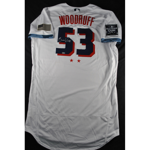 Photo of Brandon Woodruff 2021 Major League Baseball All-Star Game Autographed Jersey