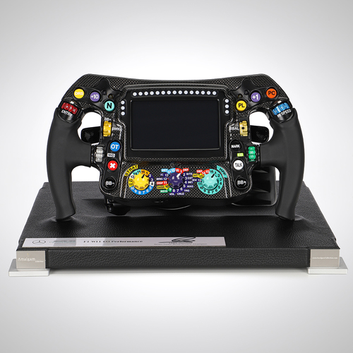 Photo of Lewis Hamilton Signed Mercedes-AMG W11 EQ Performance 2020 1:1 Scale Steering...