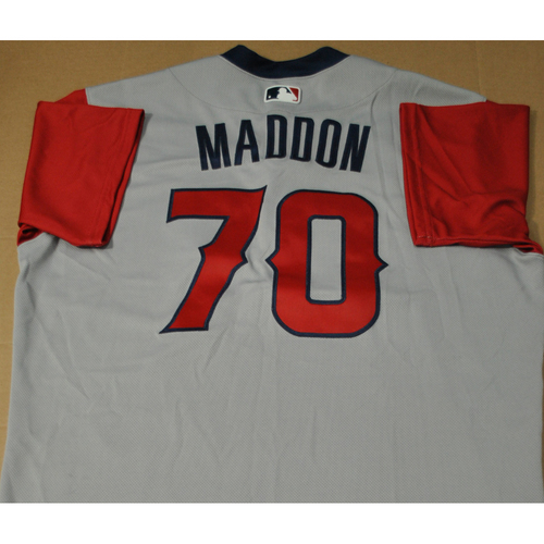 Game-used Jersey - 2021 Little League Classic - Los Angeles Angels vs. Cleveland Indians - 8/22/2021 - West, Joe Maddon #70