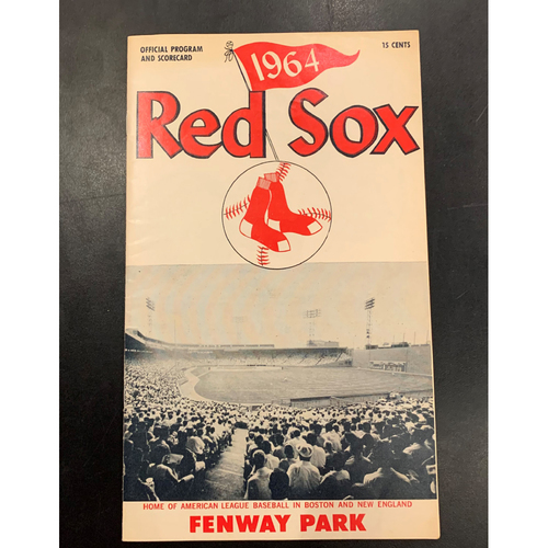 Photo of Minnesota Twins at Boston Red Sox May 17, 1964 Official Program and Scorecard