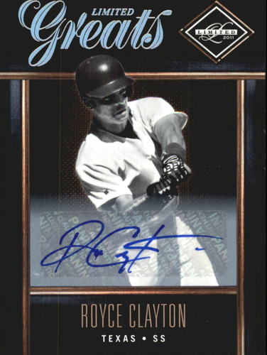 Photo of 2011 Limited Greats Signatures #39 Royce Clayton/499