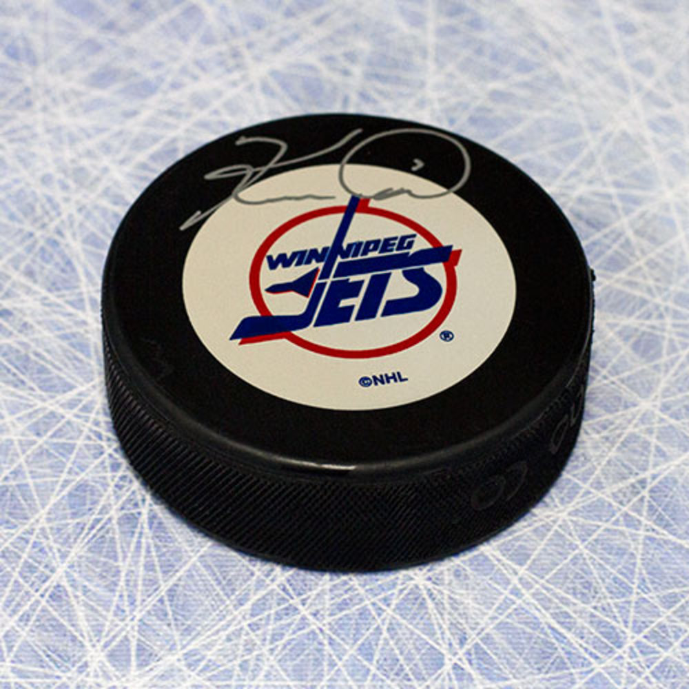Keith Tkachuk Winnipeg Jets Autographed Retro Hockey Puck