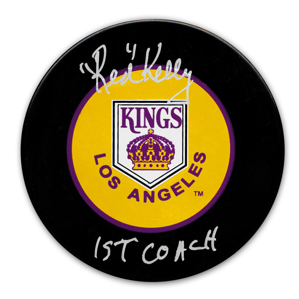Red Kelly Los Angeles Kings 1st Coach Autographed Puck