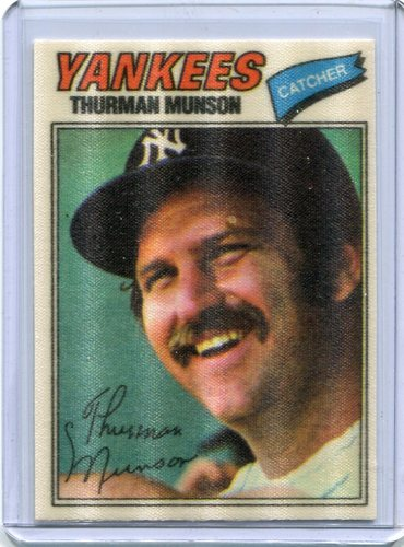 Photo of 1977 Topps Cloth Stickers #32 Thurman Munson