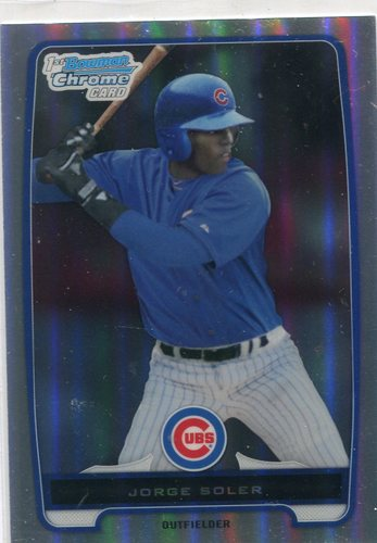Photo of 2012 Bowman Chrome Prospects Refractors  Jorge Soler