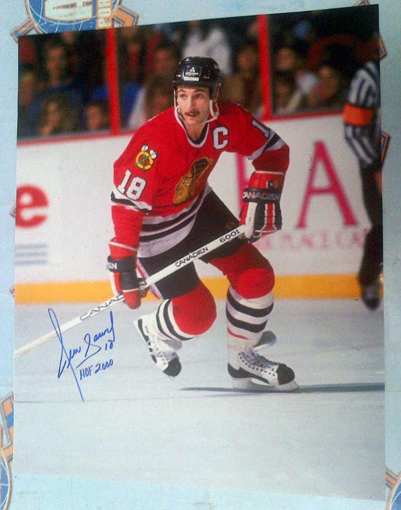 DENIS SAVARD Chicago Blackhawks SIGNED 16x20 Photo w/ HOF 2000 Inscription