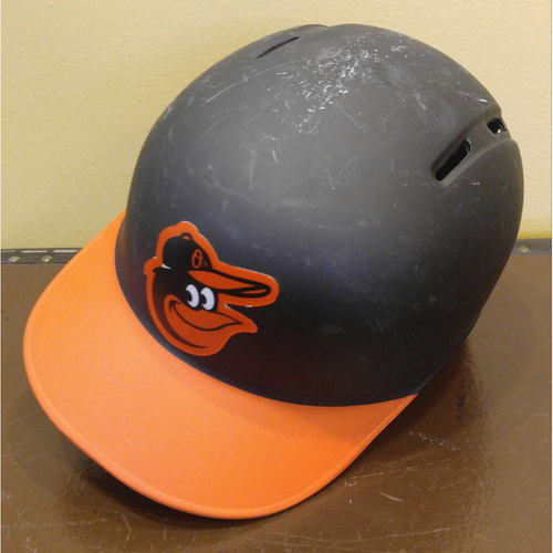 Photo of Left-Handed Road Batting Helmet - Size 7 1/2: Team-Issued