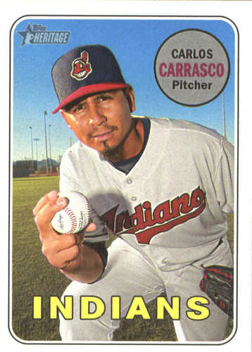 Photo of 2018 Topps Heritage #220 Carlos Carrasco