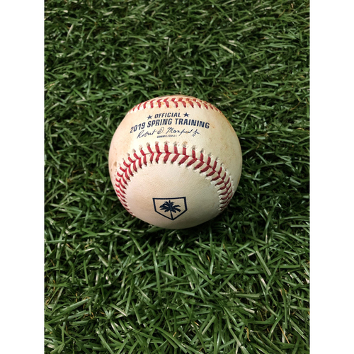 Photo of Spring Training Game Used Baseball: Casey Sadler strikes out Dylan Cozens - February 22, 2019 v PHI