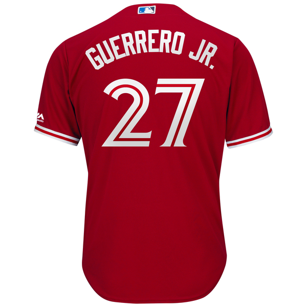 Toronto Blue Jays Vladimir Guerrero Jr. Replica Alternate Red Jersey by Majestic